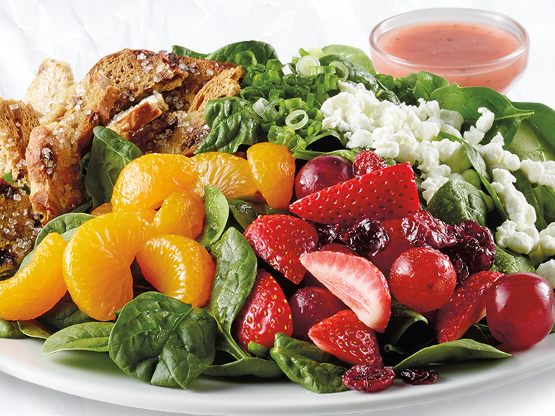 Spinach Sweet Crisp Salad